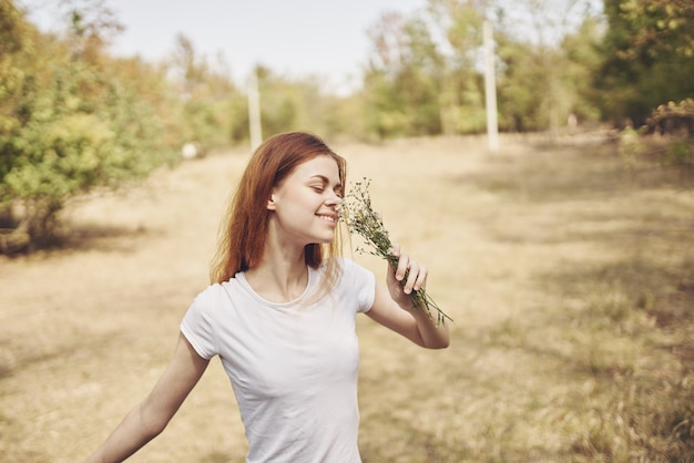 Pretty woman travel vacation plants fresh air