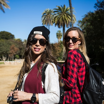 Pretty women on trip