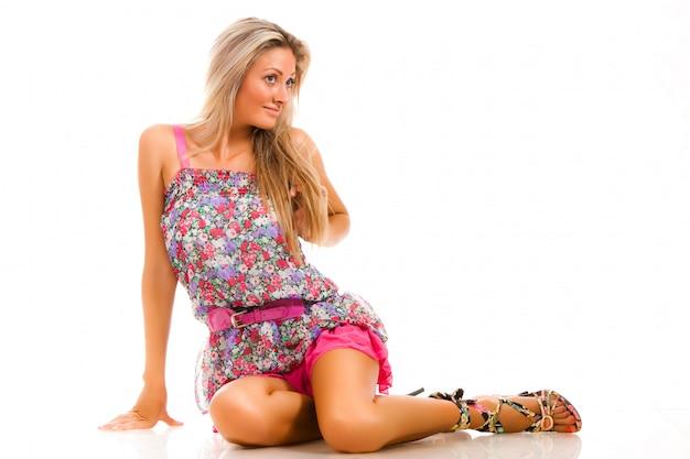 Pretty young attractive caucasian woman