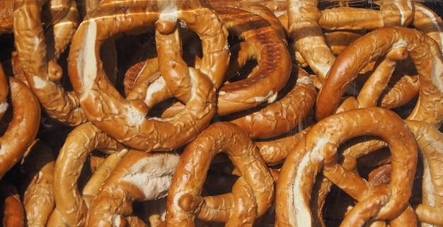 Pretzel baked bread
