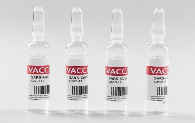 予防コロナウイルスワクチンボトル