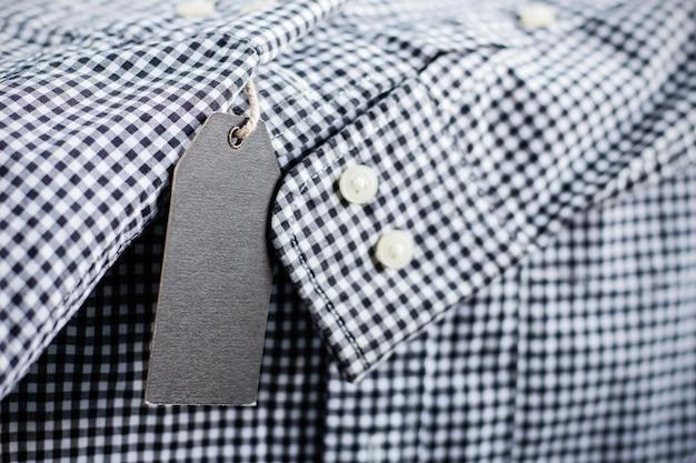 Price tag on shirt.