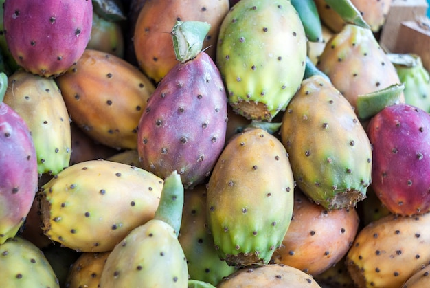 Prickly pears background