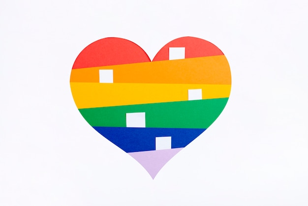 Pride day heart concept