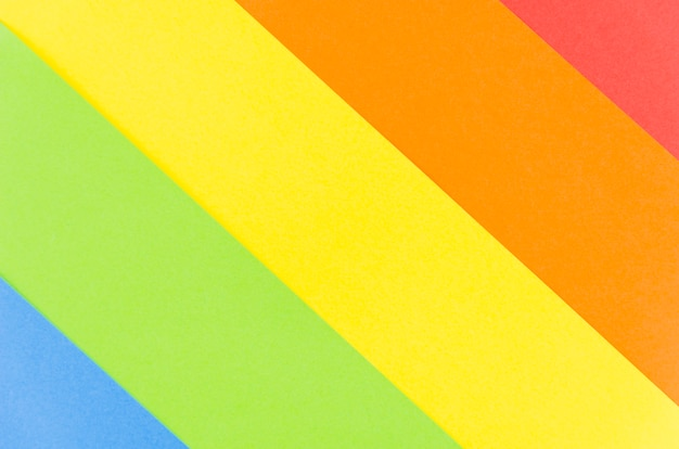 Pride flag with colorful paper sheet