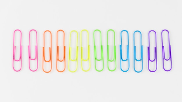 Pride flag with colorful paperclips