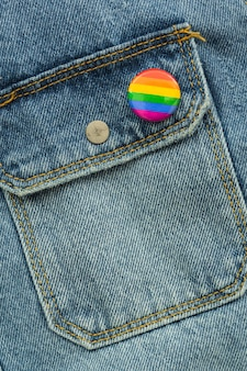 Pride lgbt society day insignia on jeans