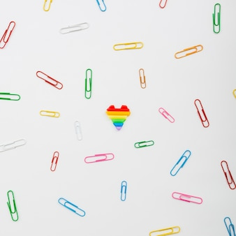 Pride lgbt society day paper clips