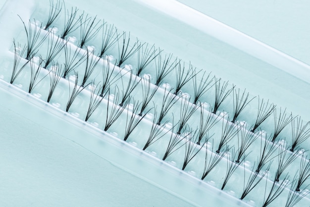 Prifessional set of false eyelashes, closeup