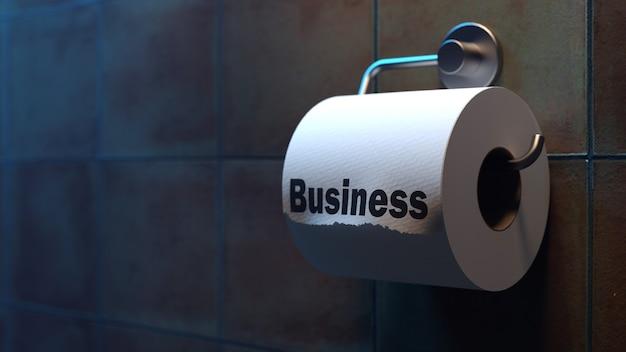 좋은 직업이나 사업의 주요 징후. 삽화 우화