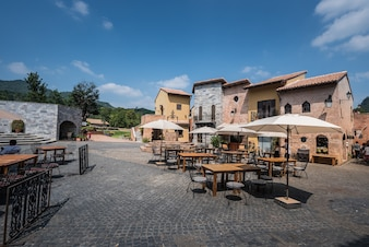 Primo Piazza, the Italian style small town at Korat province in Thailand