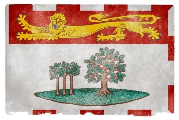 Prince edward island grunge flag