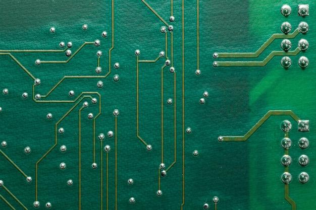 Printed circcuit board close up