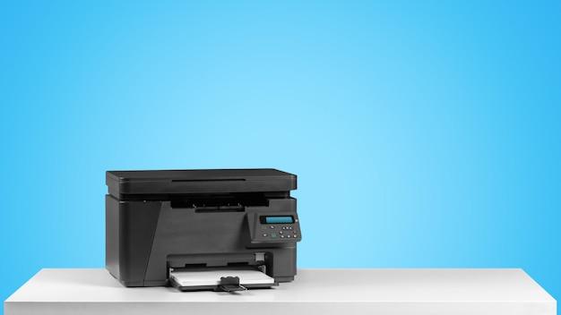 Printer copier machine on a bright