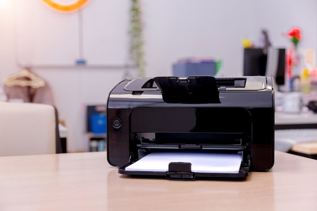 Printer scanner laser copy machine supplies in office.