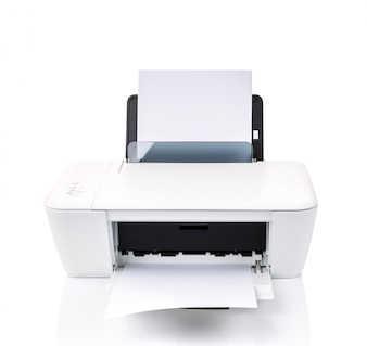 Printer with white sheets