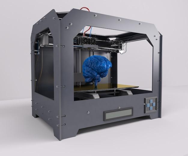 青人間の脳を印刷