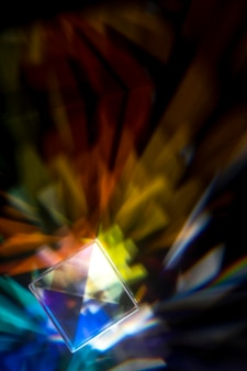 Prism dispersing colorful lights