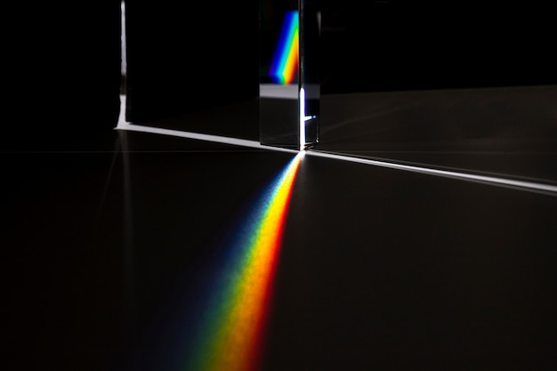 Prism dispersing the light concept