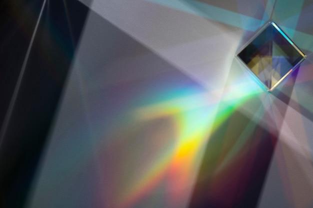 Prism dispersing the light concept
