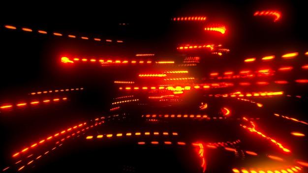 Наложение световых бликов призмы на черном размытом фоне