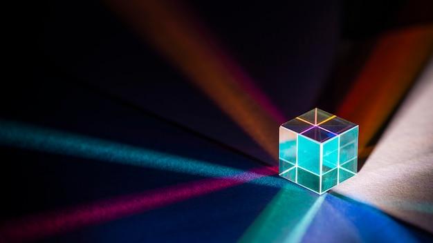 Prism spectrum light and rainbow refraction