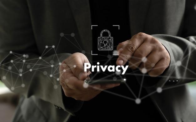 プライバシーアクセスidパスワードパスコードとプライバシー