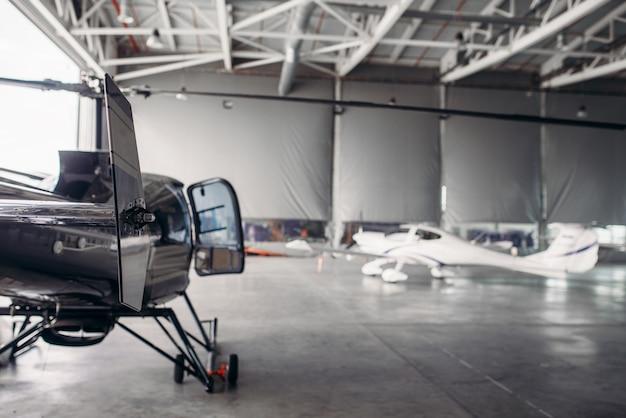 空港格納庫にある民間航空会社のエアパーク