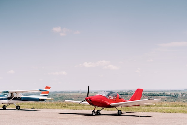 フィールドの私用飛行機