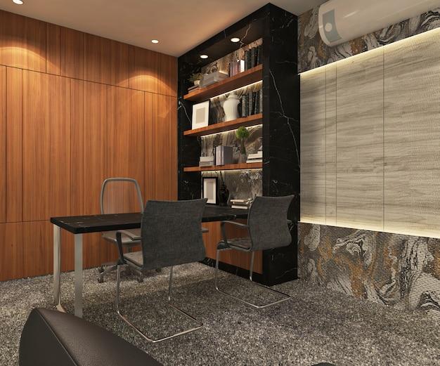 Private office design interior. 3d rendering