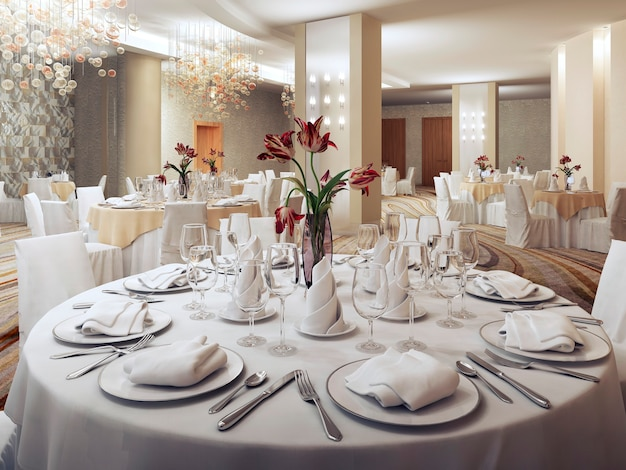 Private party ballroom in restaurant