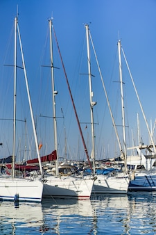 Private yachts in port