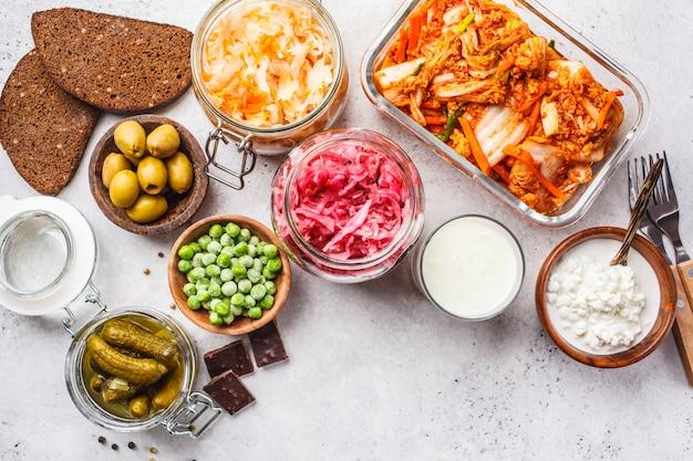 Probiotics food concept.