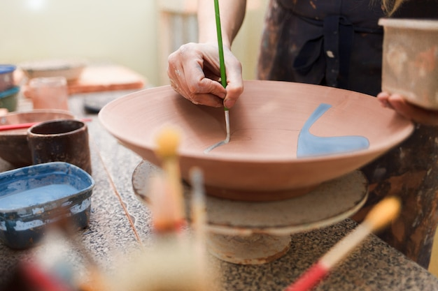 Process of creating clay products.