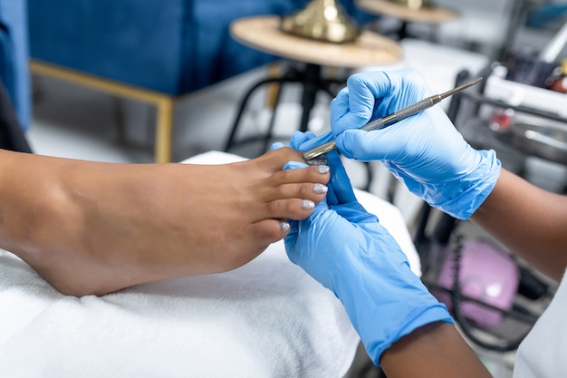 The process of creating a pedicure