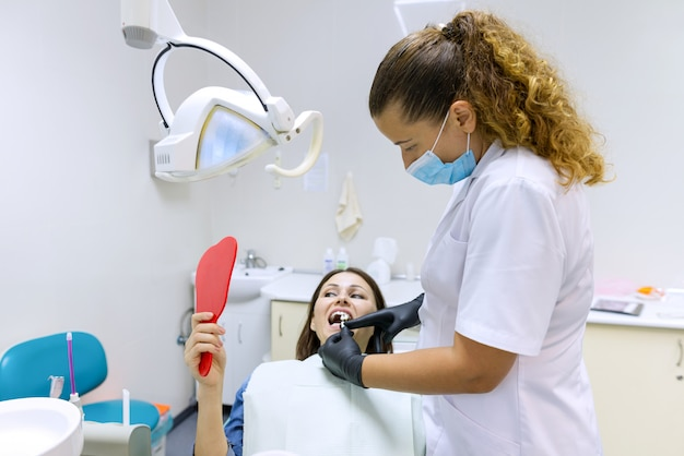 Process of dental treatment