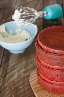 Process of making red velvet cake
