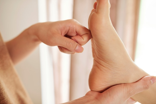 Process of reflexology treatment