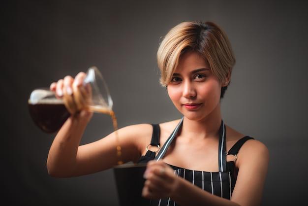 커피 필터 드리퍼 키트, 바리 스타 추출을위한 빈티지 스타일 도구로 커피를 만드는 과정