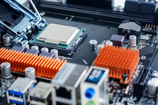 Processor is installed in the motherboard socket.