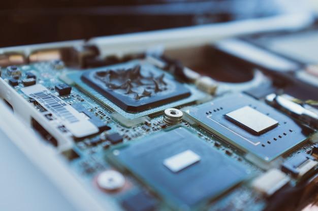 Processor motherboard macro photo