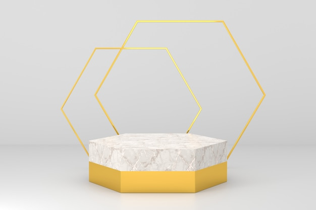 ラグジュアリーなコンセプトの商品展示デザイン。 3dレンダリング。