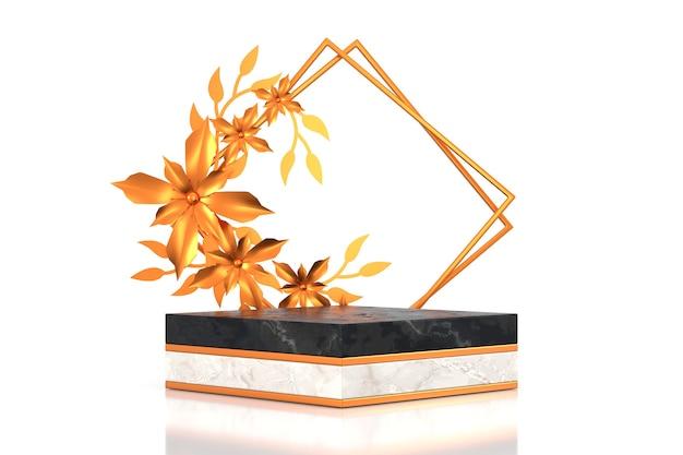 럭셔리 컨셉의 제품 디스플레이 디자인. 3d 렌더링.