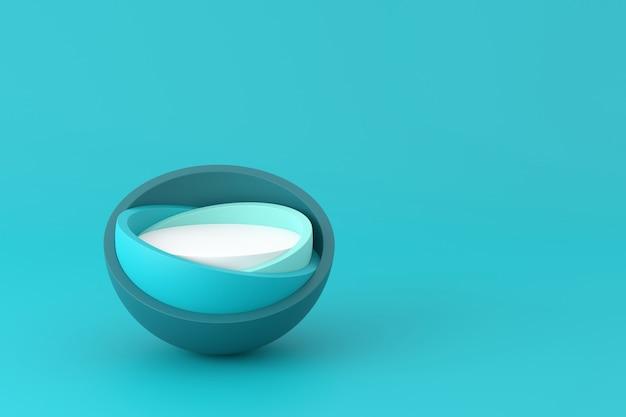 Дизайн дисплея продукта в современном стиле. 3d-рендеринг.