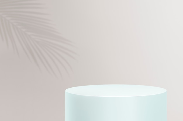 Product display podium 3d psd with clouds on pastel background