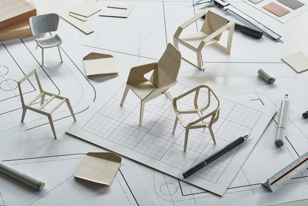 Product furniture design chair prototype