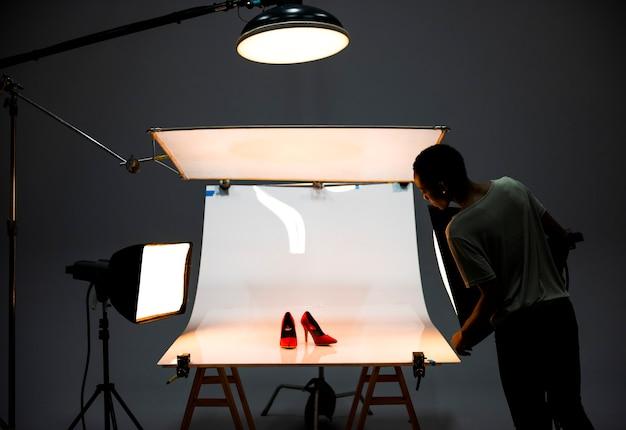 靴の商品写真撮影