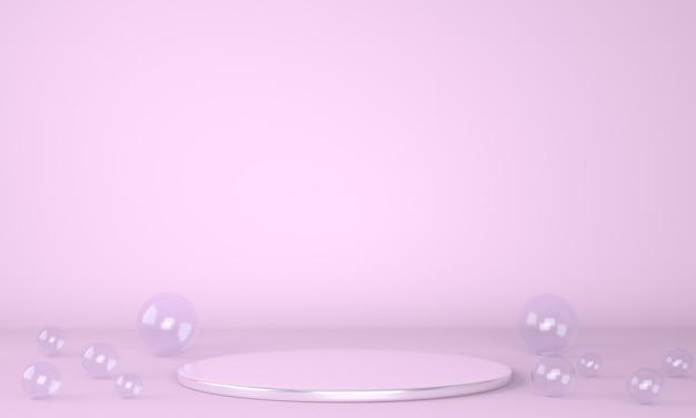パステル背景3dの製品表彰台