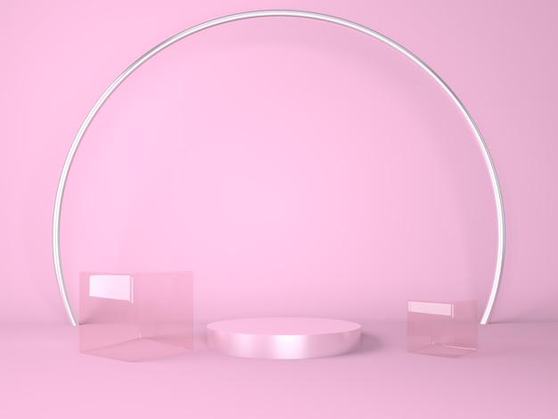 紫の製品表彰台