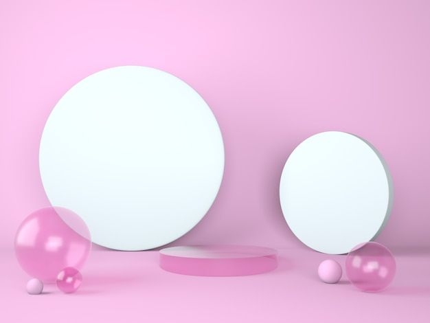 Product podium on pastel background 3d. abstract minimal geometry concept. studio stand platform theme.